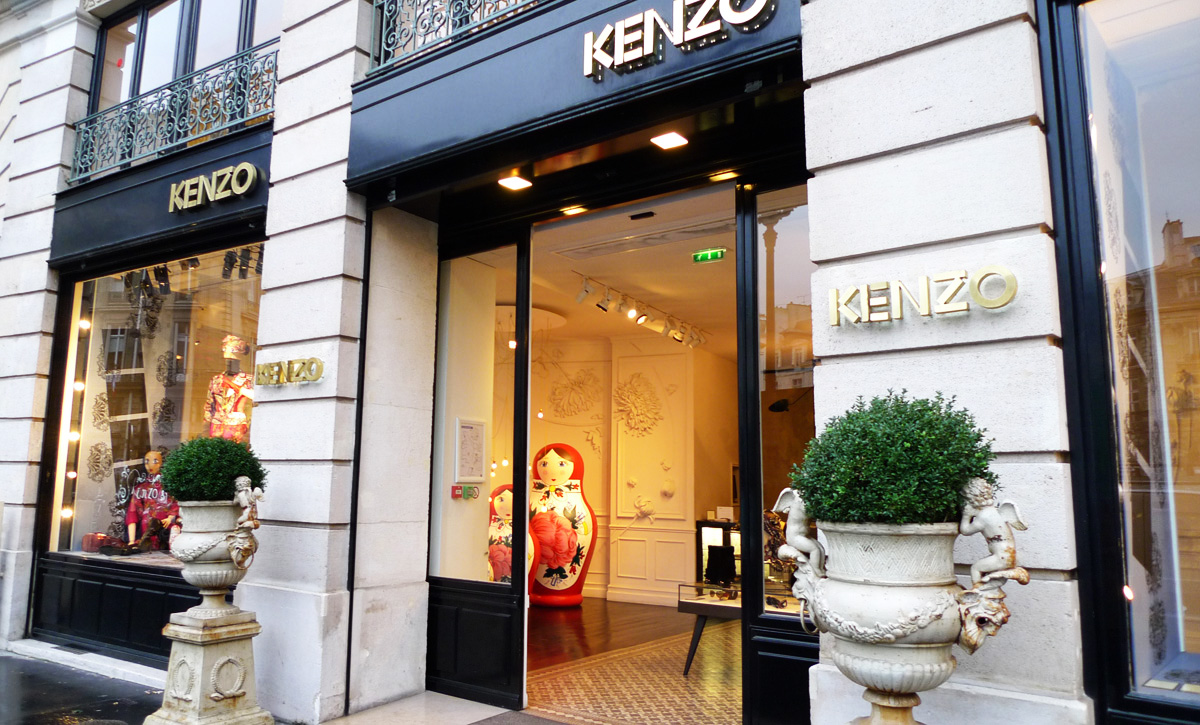 boutiques kenzo paris. Black Bedroom Furniture Sets. Home Design Ideas