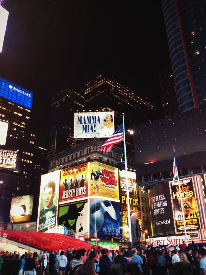 Times Square, juste après la fin du spectacle.