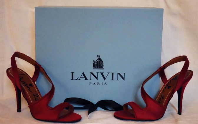 Lanvin-red-silk-sandales
