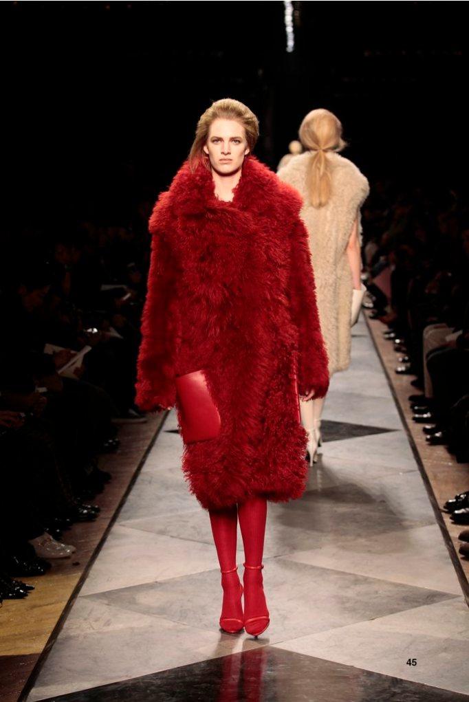 45-LOEWE-AH-2013-Red Shearling Coat_ Red Napa Sandal