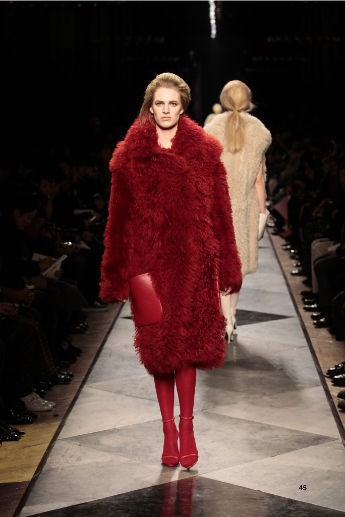 45-LOEWE-AH-2013-Red Shearling Coat_ Red Napa Sandal