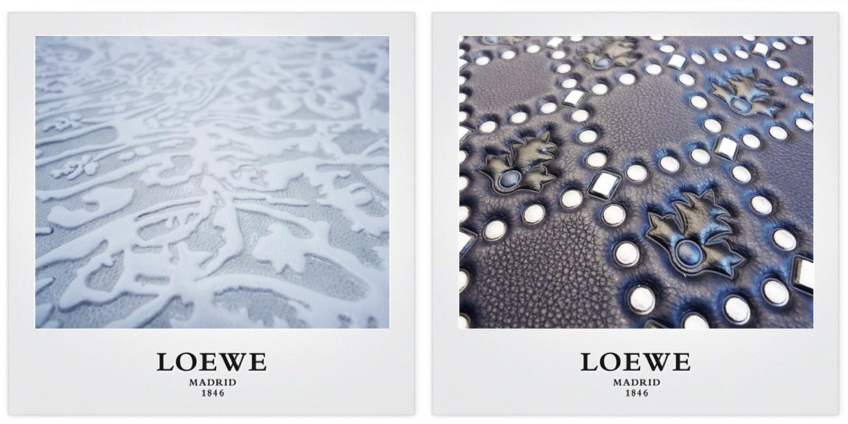 LOEWE-preparation-collection-matieres-cuir