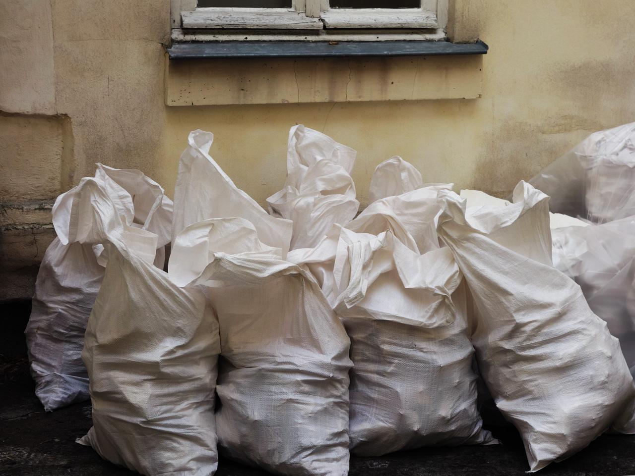 chantier sacs gravats