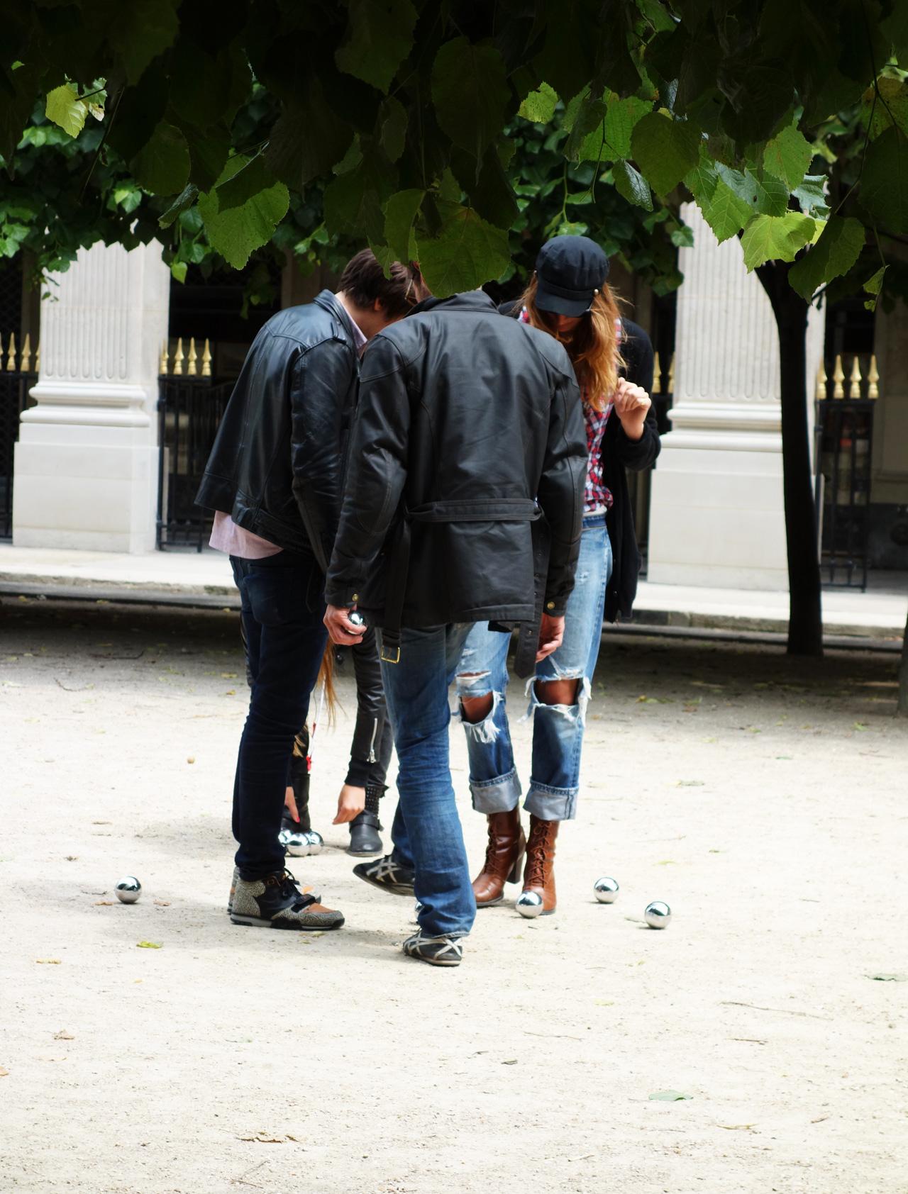 pétanque au Palais Royal