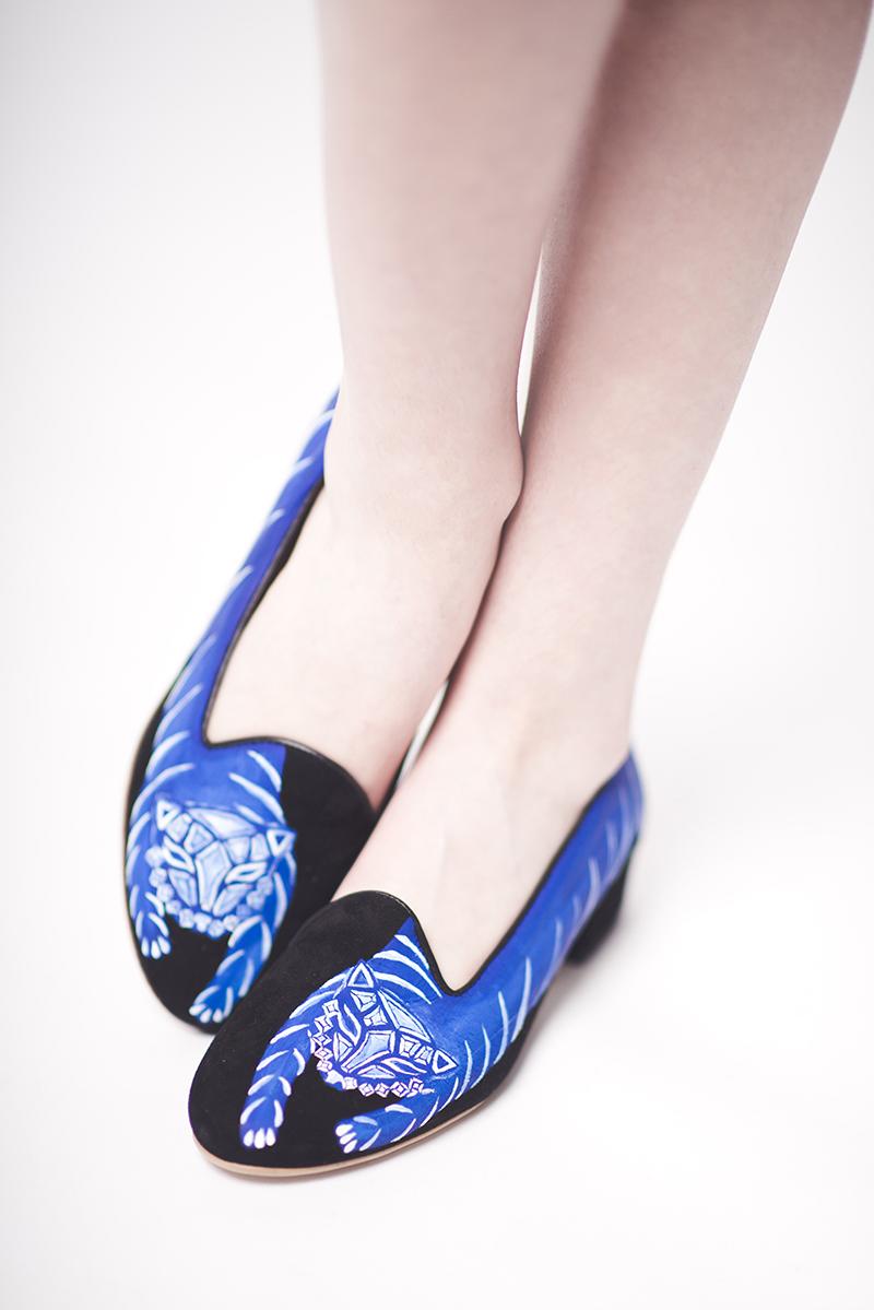 tigre bleu chaussures