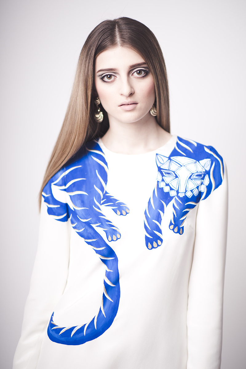 tigre bleu Holly Fowler