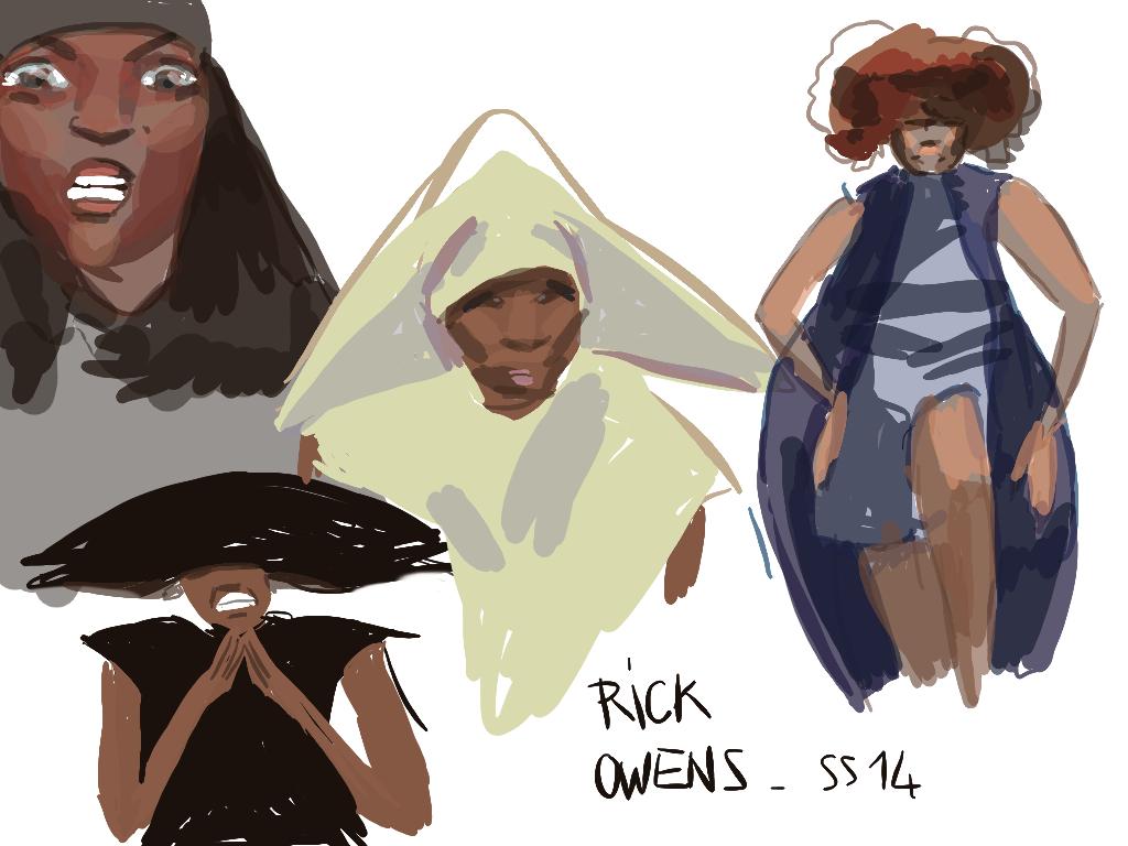 Rick Owens 2014 by Eudoxie
