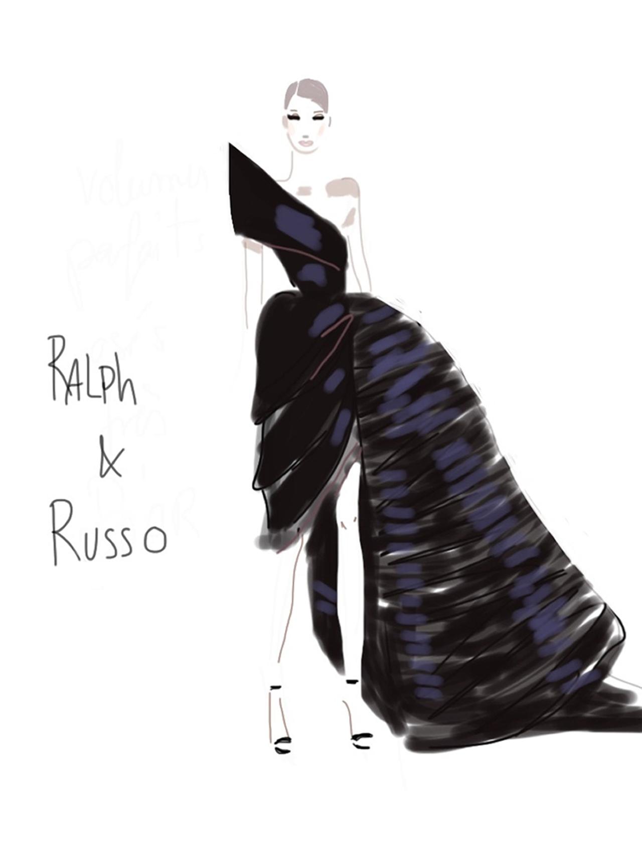 Ralph&Russo-Show sketch 1