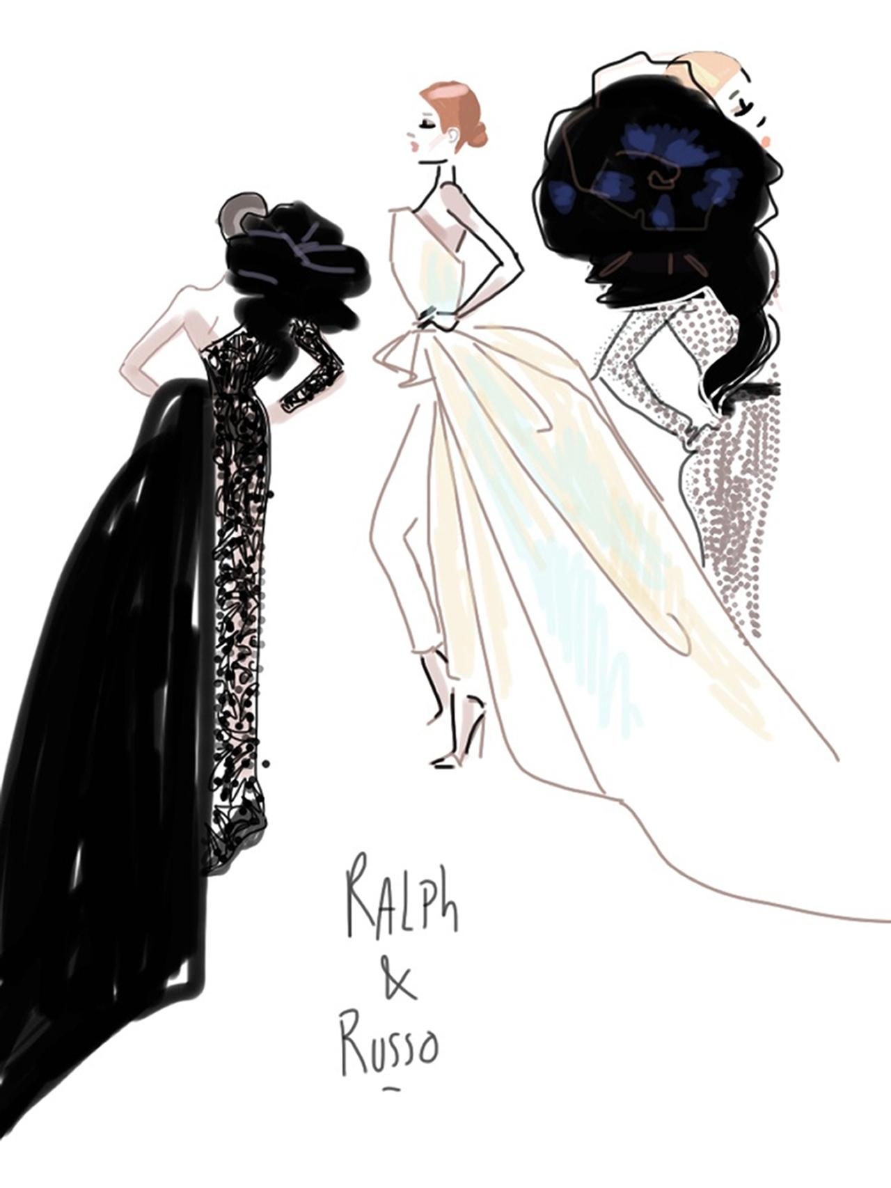 Ralph&Russo-Show sketch 2