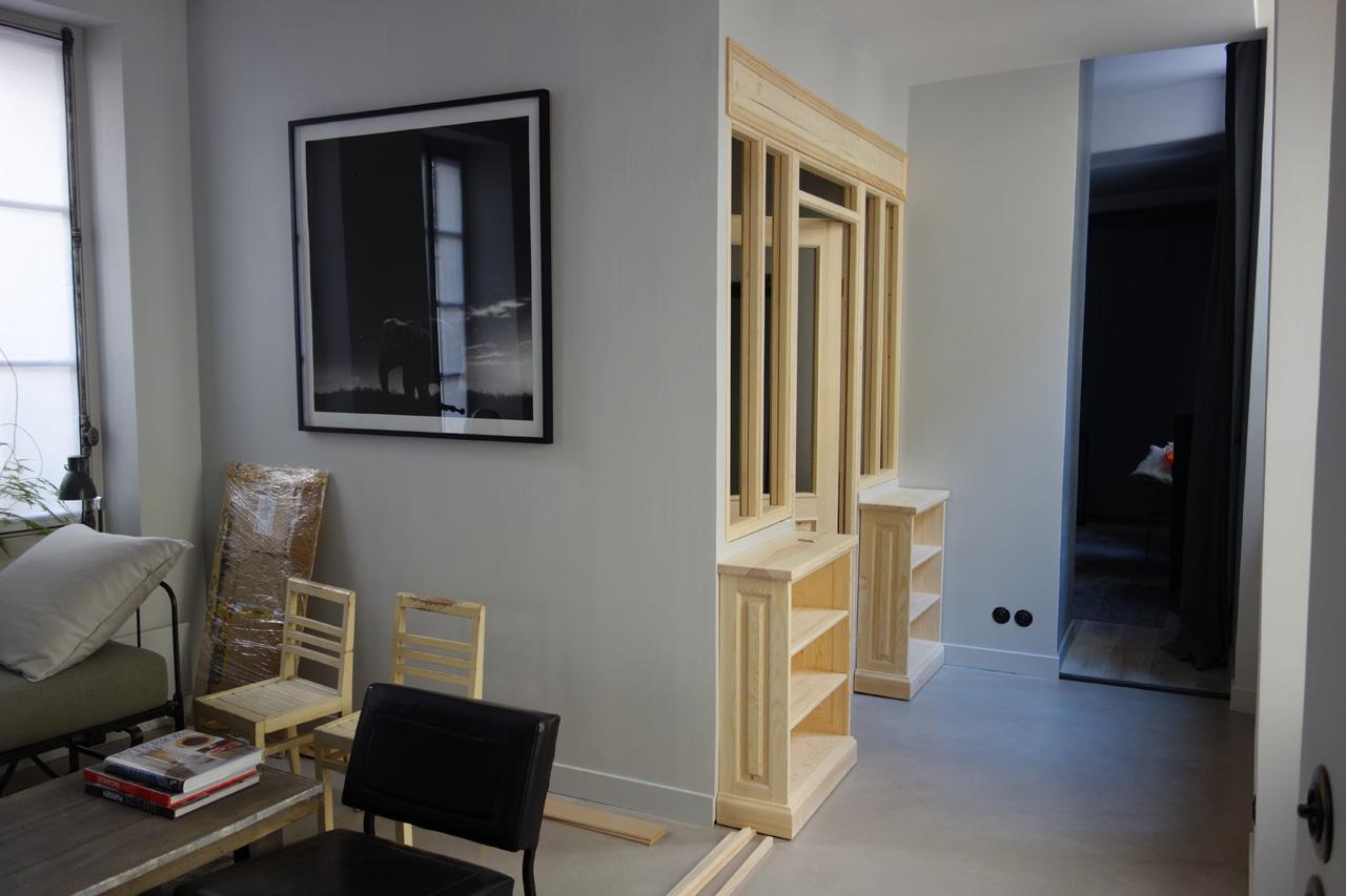cloison chambre salon idee separation chambre salon cloison amovible quadratus castorama. Black Bedroom Furniture Sets. Home Design Ideas